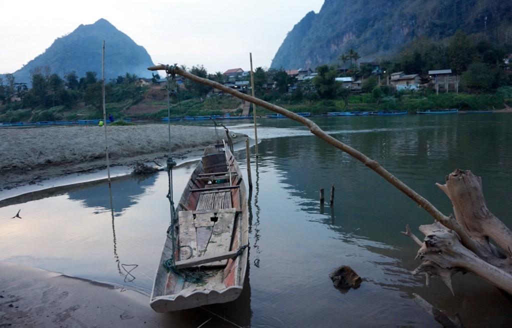 Nong Khiaw boat - Laos