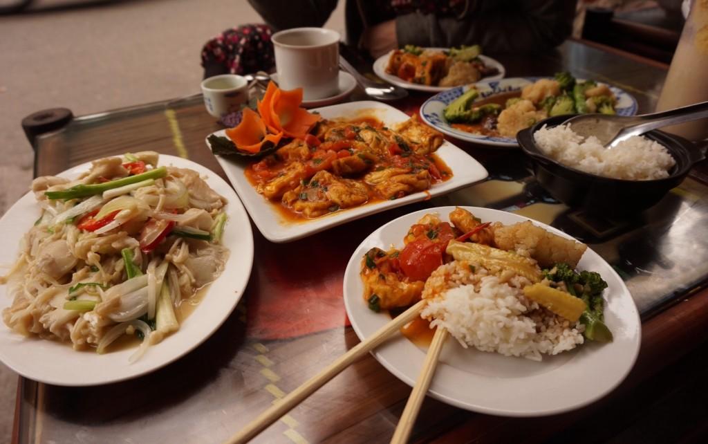 Hanoi vegan food tofu