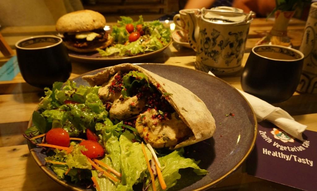 Hanoi zenith vegan falafel and burger