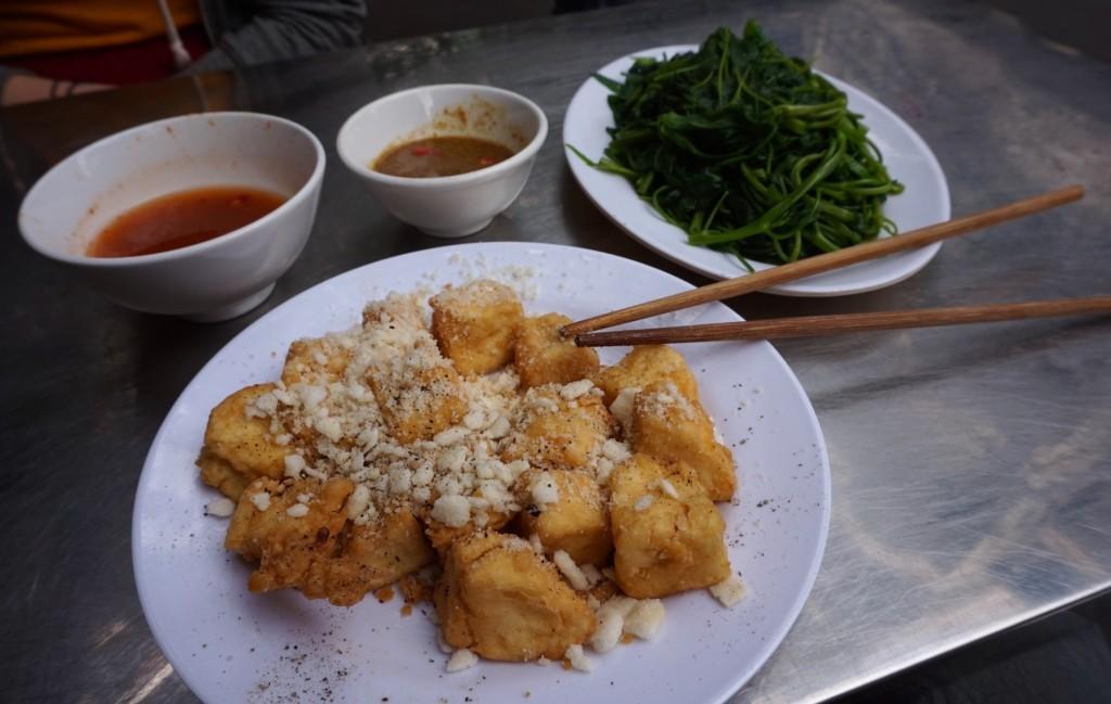 Hanoi fried tofu bread crumbs