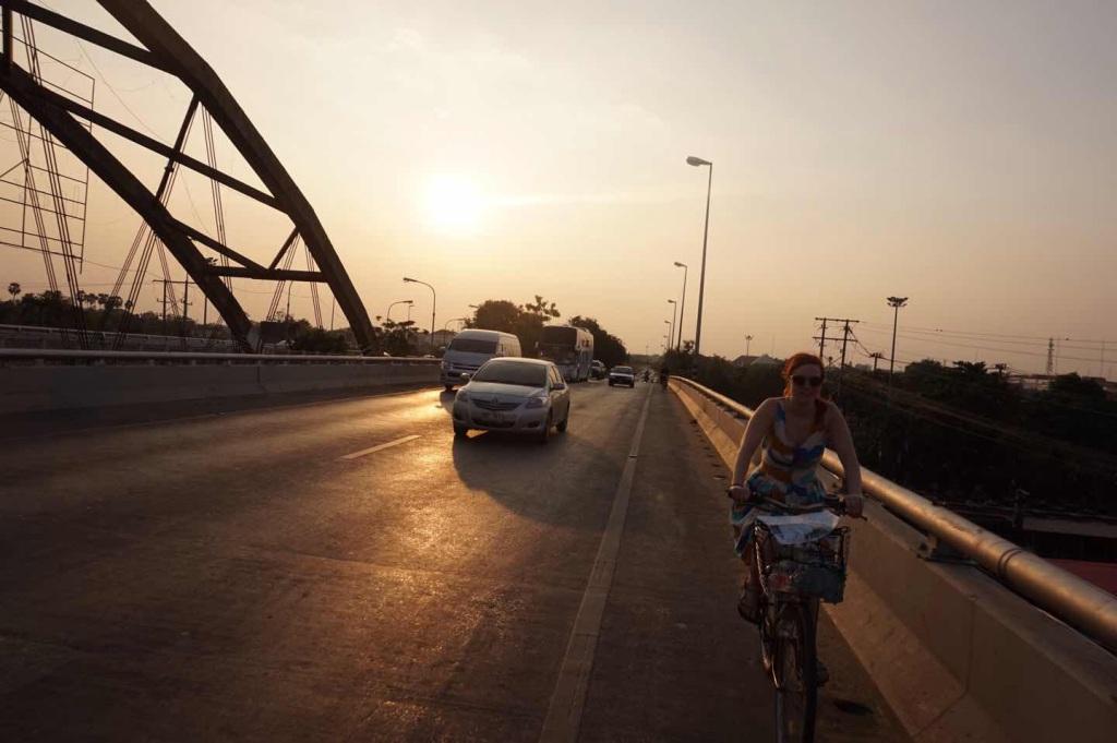 Bicycling around Ayutthaya